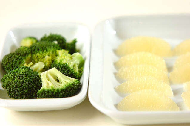 焼きグレープフルーツのサラダの作り方の手順1