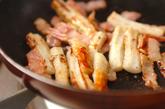 ちくわとベーコンのカレー炒めの作り方2