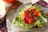 お刺身サラダの作り方の手順