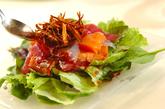 お刺身サラダの作り方4