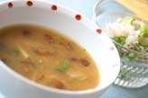 里芋とナメコのみそ汁
