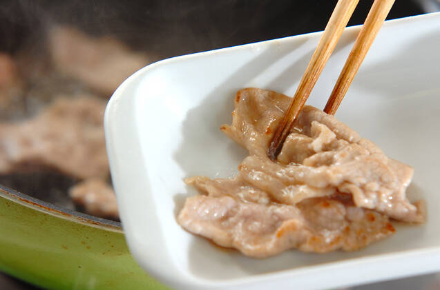 薄切り豚肉のショウガ焼きの作り方の手順5