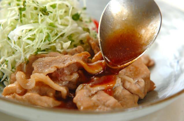 薄切り豚肉のショウガ焼きの作り方の手順7