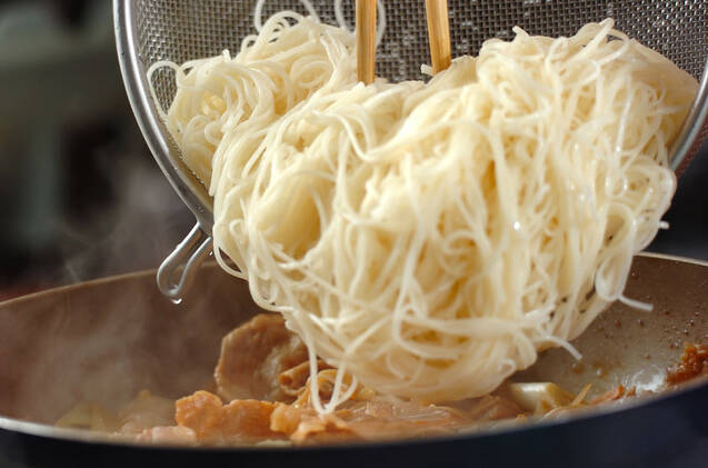 すき焼き風素麺の作り方の手順7