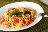 きのこトマトスパゲティ