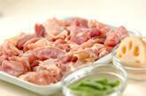 鶏のゴマゴマ煮の下準備1