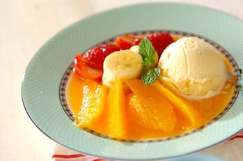 オレンジのホットデザート