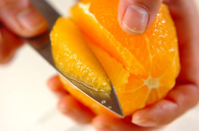 オレンジのホットデザートの作り方の手順1