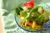 ルッコラのカラフルサラダの作り方の手順