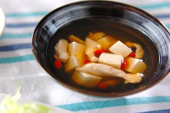 鶏ささ身のスープ