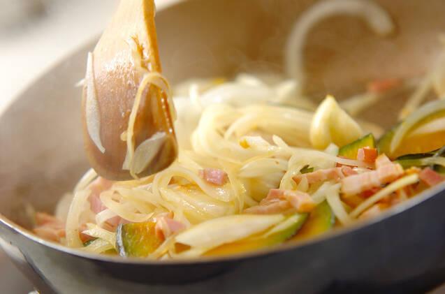 カボチャのリヨネーズの作り方の手順6