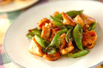鶏肉と緑野菜の中華炒め