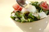 カルボナーラ風サラダ丼の作り方2