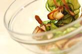 キュウリとシイタケのゴマ酢和えの作り方4