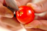 エノキとトマトのサラダの下準備2