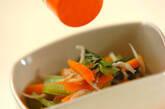 小松菜とジャコのサッと煮の作り方3