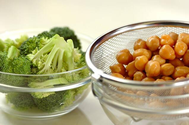 ブロッコリーのカレー炒めの作り方の手順1