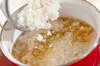 カニと卵の雑炊の作り方の手順2