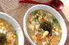 カニと卵の雑炊の作り方の手順