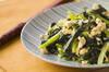 小松菜炒り豆腐炒めの作り方の手順