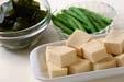 高野豆腐と貝の煮物の下準備4