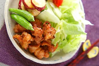 鶏の唐揚げ&野菜揚げ