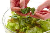グリーンサラダ の下準備4
