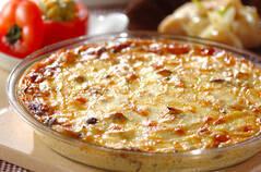 キノコのクリームオーブン焼き