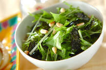 水菜のチョレギサラダ