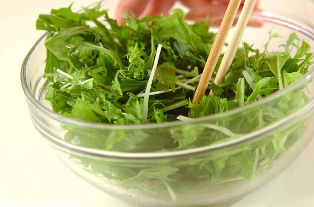 水菜のチョレギサラダの作り方の手順5