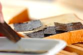 のり納豆トーストの作り方1