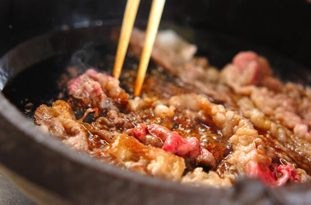 牛すき焼きの作り方の手順11
