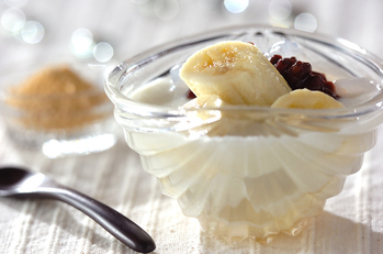 ココナッツバナナ汁粉