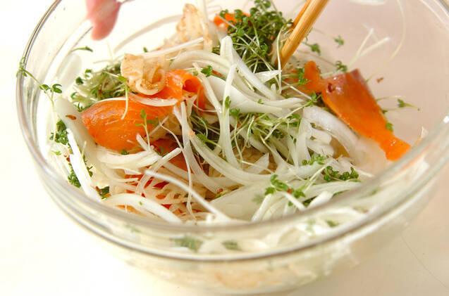 レンコンとサーモンのホットサラダの作り方の手順6