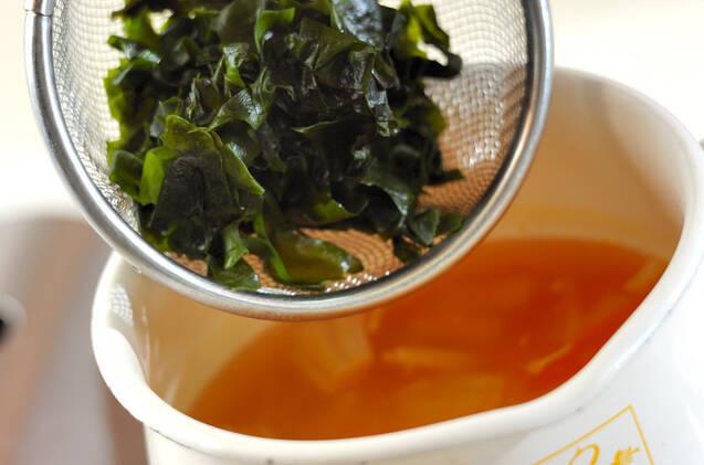 ワカメのスープの作り方の手順5
