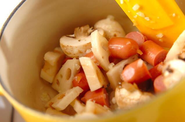 ソーセージのスープカレーの作り方の手順8