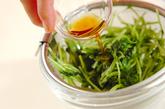 豆苗のショウガ風味おひたしの作り方2