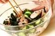 キュウリとエビの酢の物の作り方1
