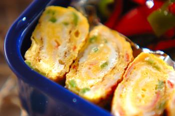 カニ風味カマボコの卵焼き