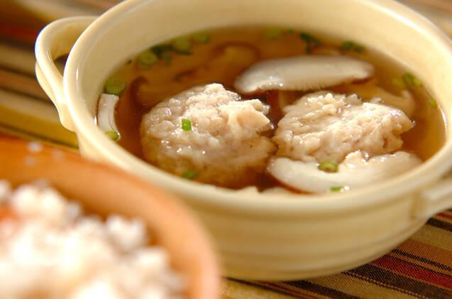 2. 鶏団子入り汁