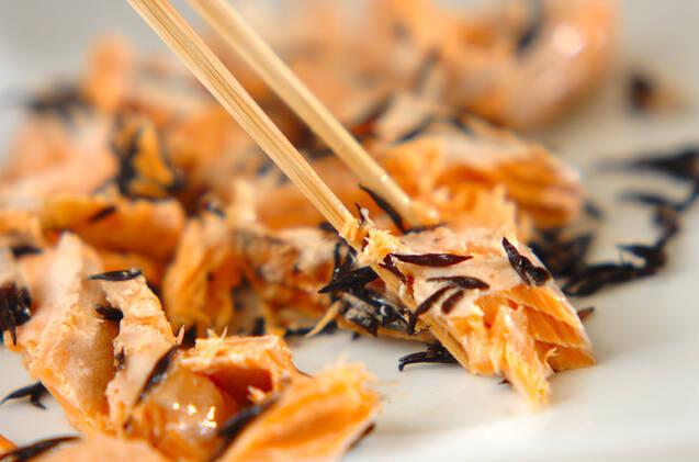 ヒジキと鮭の炊き込みご飯の作り方の手順7