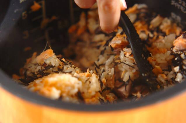 ヒジキと鮭の炊き込みご飯の作り方の手順8