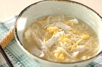 ささ身と卵のサッパリ素麺