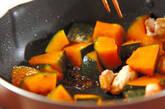 カボチャと鶏肉のピリ辛炒めの作り方5
