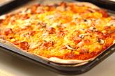 コーンとソーセージのピザの作り方5