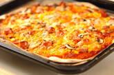 コーンとソーセージのピザの作り方10