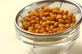 水煮豆のスープの下準備1