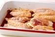 鶏リブのこっくり煮の下準備1