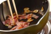 豆苗のオイスター炒めの作り方3