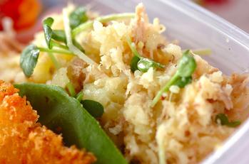 ツナと貝われ菜のポテトサラダ
